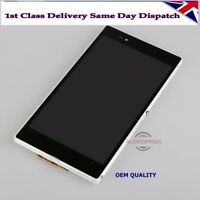 Sony Xperia Z Ultra LT39h LT39i XL39H LCD+Touch Screen Digitizer+Frame White