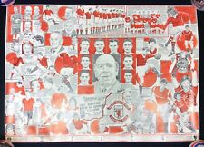 Manchester United Legends Poster Signed by Bryan Robson and Pat Crerand