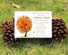 Fall Leaves Themed Personalized Bridal Shower Invitations - Autumn Tree
