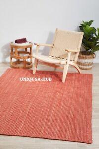 Rug Natural Jute Braided style Reversible Handmade Rug Modern Rustic look Carpet