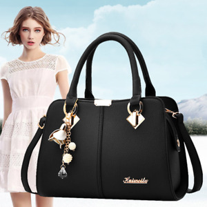 Fashion Women Leather Handbags Shoulder Bag Messenger Ladies Satchel Tote Purse