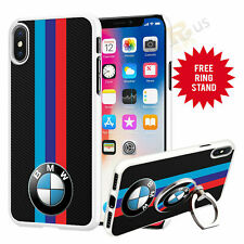 BMW Car Phone Case Cover & Finger Ring Stand For Top Mobiles 041-19