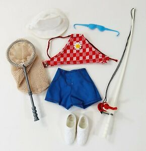 Vintage Kenner Dusty Trendsetter Summer Vacation Outfit Fishing