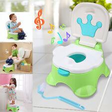 Toilettentrainer 3in1 Kinder Baby Toilettensitz Lerntöpfchen Töpfchen WC Musik