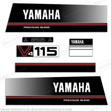Yamaha 115hp V4 Precision Blend Outboard Engine Decal Kit 115 Decals