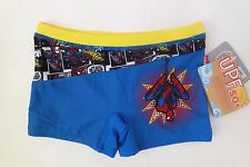 NWT MARVEL SPIDERMAN Kids/Boys Swimsuits Boxers/Trunks/Briefs Size 5/6 UPF 50+