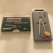 Staedtler Protractor Set And Rotring Protractor In Cases