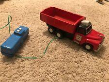 #Antique Tin Toy# Japanese Sinsei SKK Dump Swallow Side Truck Car Japan