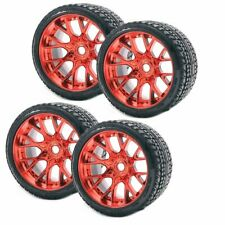 Sweep Racing SRC Monster Truck Road Crusher On road Belted Tire Red Wheel (4Pcs)