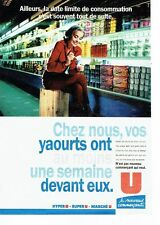 PUBLICITE ADVERTISING 0217  1995   Magasins Hyper U  Super U   les yaourts