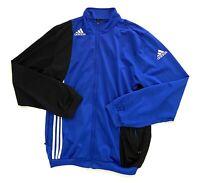 Adidas Blue Run Dance Striped Track Windbreaker ZIP Jacket Mens Size Large