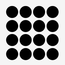 "Blackboard chalkboard round self adhesive sticker, set of 12, 2"" x 2"""