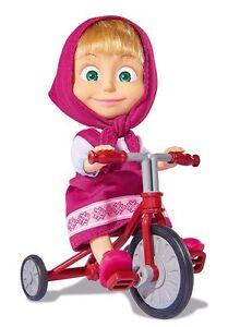 Simba 109302059 - Mascha und der Bär Mascha Puppe mit original Dreirad