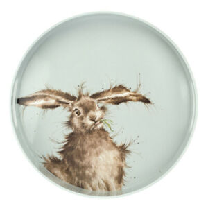 Wrendale Designs Hare Round Melamine Serving Tray Drinks Food Tray