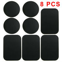 8 PCS Metal Plates Sticker Replace For Magnetic Car Mount Holder Cell Phone GPS