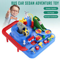 NEW! Car Adventure Toy Manipulative Rescue Squad Macaron Color Track Railway Toy