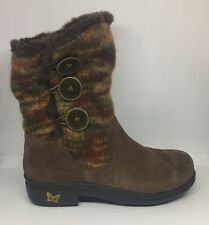 Alegria Nanook Winter Boots Brown Suede And Faux Fur Lined Size 36 (6-6.5)