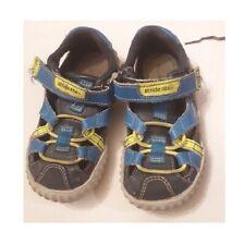 Stride Rite Boys Royal Navy Blue Neon Yellow Shoes Size US 7 W