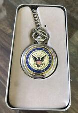 U.S. Navy Pocket Watch New In Presentation Tin