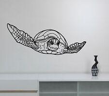 Turtle Wall Sticker Ocean Sea Life Animal Vinyl Decal Wildlife Bathroom Decor t7