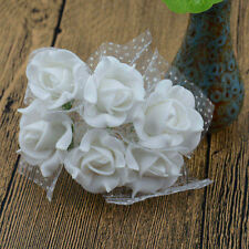 144pc Foam Artificial Lace Rose Flowers Wedding Bride Bouquet Wreath Decor Craft