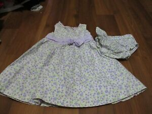 GIRLS CARTER'S DRESS & BLOOMERS OUTFIT SIZE 6 MOS