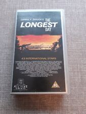 THE LONGEST DAY JOHN WAYNE VHS PREOWNED