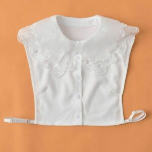 Inglese Staccabile Colletto Chiffon Falso Camicie Donna Traforato Peter Pan Moda