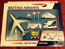BRITISH AIRWAYS  BA - AIRPORT PLAY SET MODEL - NR Playset UK Toy Plane Set New