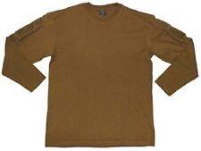 Tactical Lang Arm Shirt Long sleeve mit Ärmeltaschen und Klettfäche Army coyote