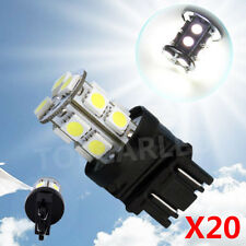 3156 3157 P27/7W White 13SMD Fog Stop Tail Turn Auto Car LED Light Bulb Lamp x20