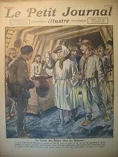 REINE BELGIQUE MINE ETATS-UNIS GANGSTERS ATTAQUE DE BANQUE LE PETIT JOURNAL 1922