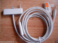 iPhone 5 5SC iPod AUX Cable 3.5m Audio Adapter Charger Lead for Car Music Stereo