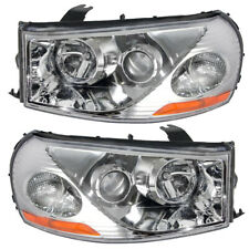 Headlights Set fits 2003-2005 Saturn L-Series Pair Headlamps w/ Housing Assembly