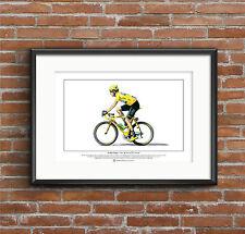 Bradley Wiggins-TOUR DE FRANCE vincitore-Ltd Edition fine art print FORMATO A3