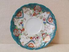 ancienne sous tasse porcelaine fine decor floral epoque 1900