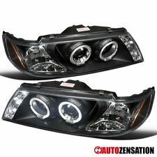 Fit 95-99 Sentra/ 200SX Black LED DRL Halo Projector Headlights
