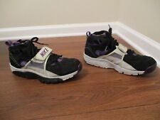 Used Worn Size 13 Nike Air Trainer Huarache Shoes Black Purple Gray Platinum