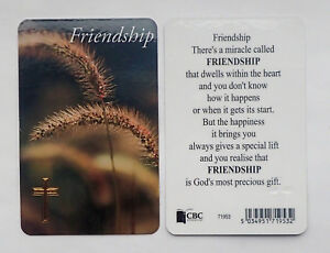Theres a Miracle called FRIENDSHIP  Prayer Card  ~ God's Most Precious Gift