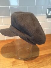 Kangol Spitfire Grey Flannel Wool Beret Peaky Blinders Baker Boy Hat Cap (Small)