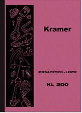 Kramer KL 200 RICAMBIO elenco Catalogo parti di ricambio parti Trattore Catalogo kl200