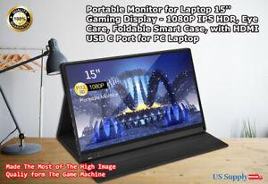 Portable Monitor 15.6 Inch Computer Display 1920×1080 Full HD IPS Screen USB C