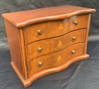 Vintage Mahogany Miniature Apprentice Piece Chest of Drawers Dolls Furniture