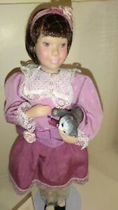 """Vtg. 1993 Avon Doll Childhood Dreams Collection """"Kitty Love"""" Never Displayed"""