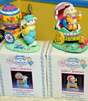 2 Vintage Clover Hill Collection Julies Journey Easter Rabbit Figurines IOB