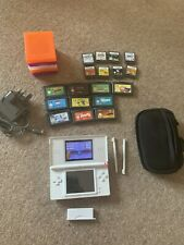 Nintendo DS Lite Handheld Console With 12 Games, Charger And Cases