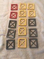 Lego 15 Support 1 x 6 x 5 Girder Rectangular Pieces