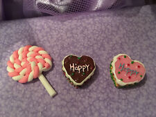 """Fake Food Mini Cakes Lollipop Fits 18"""" American Doll Girl Accessories Snack NEW"""