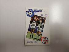 RS20 Buffalo Blizzard 1994/95 NPSL Soccer Pocket Schedule - Kodak