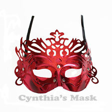 Venetian Red Metallic  Masquerade Mask BZ303C for  Party & Display